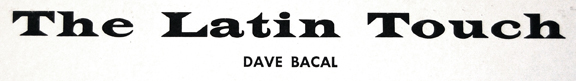 Dave Bacal_The Latin Touch of Dave Bacal_LP_logo
