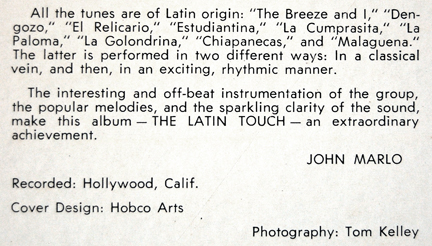 Dave Bacal_The Latin Touch of Dave Bacal_LP_notes4